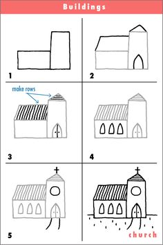 Drawn haunted house step by step It! s a step Kids