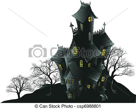 Drawn haunted house vector Of csp6988801 house and and