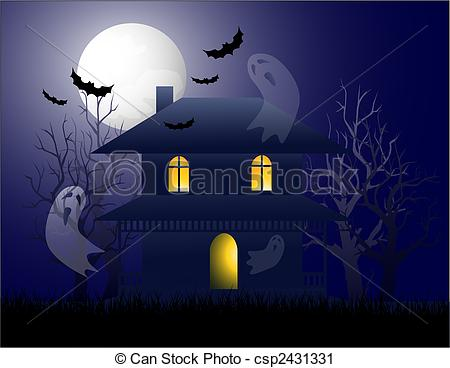 Drawn haunted house vector Search of Vector Haunted Haunted