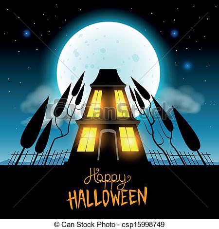Drawn haunted house vector Vector of csp15998749 Halloween Halloween