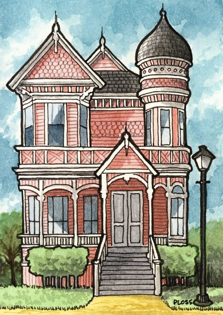Drawn building old victorian house Ideas House Victorian Studio in