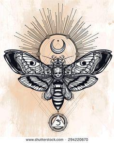 Drawn hawk dark Saturn  moons (the tattoos
