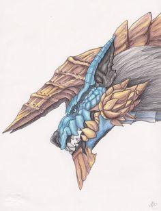 Drawn hawk hunter Pinterest Monster hunter Monster by