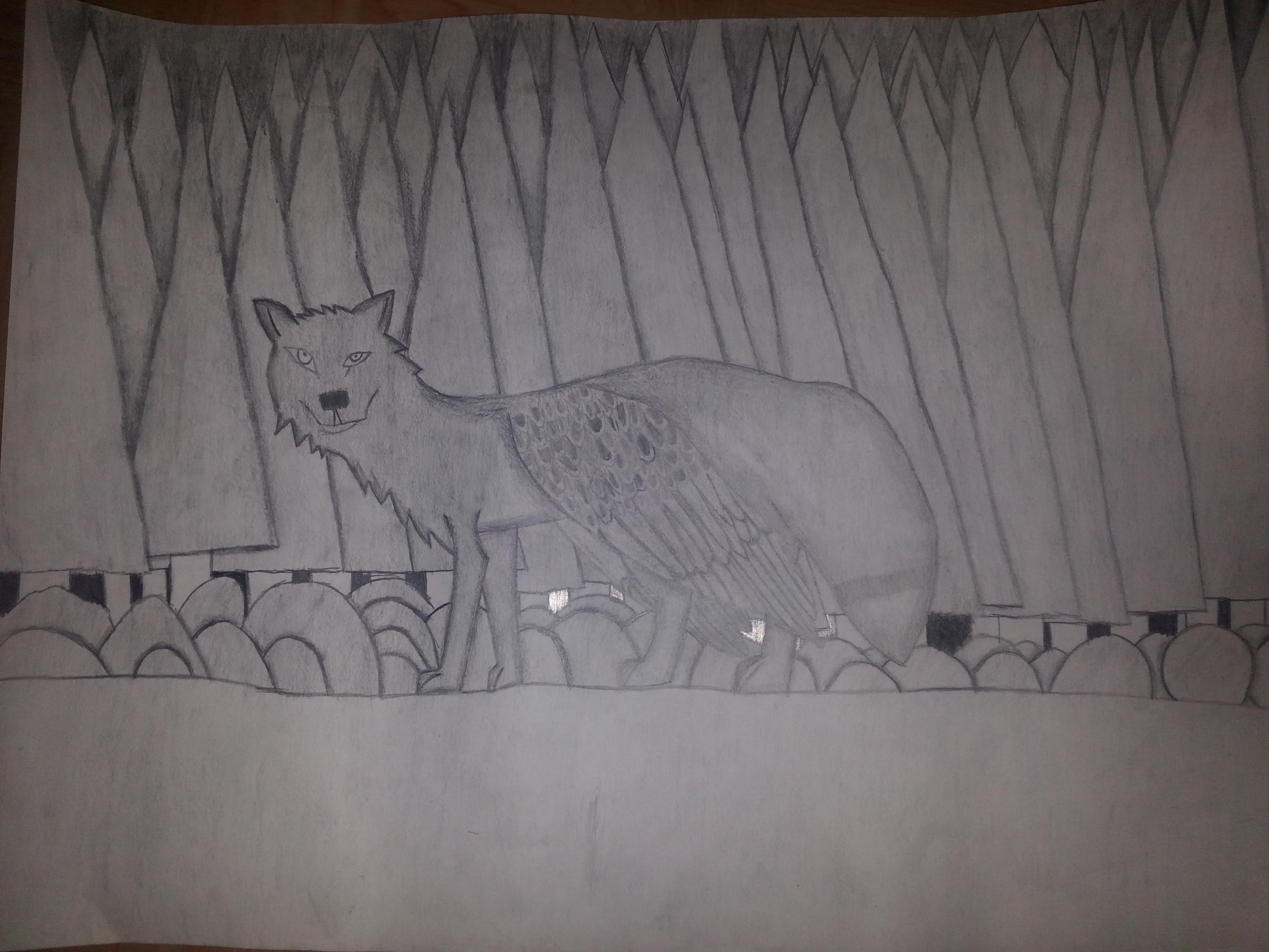 Drawn hawk shaded Wolf/Fox/Hawk Shading WolfMaster2015 by Mix