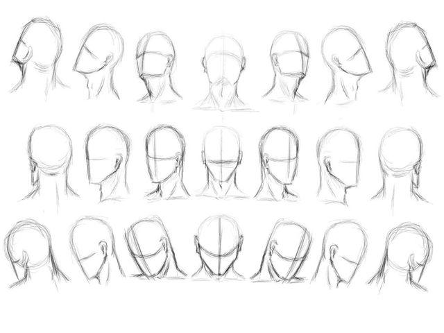 Drawn head 25+ head Sketching more on