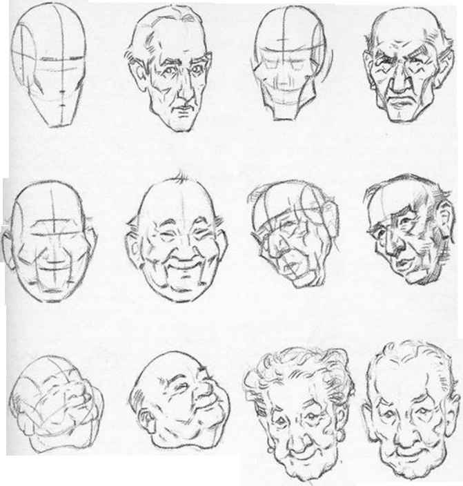 Drawn head Hands Drawing Head Round the