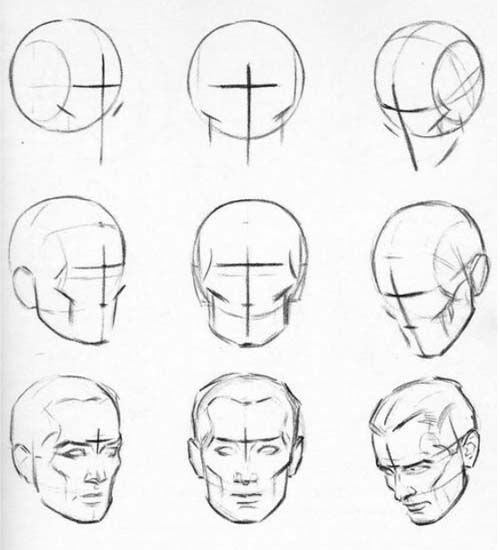 Drawn head Drawing Best – Patrick's Pinterest