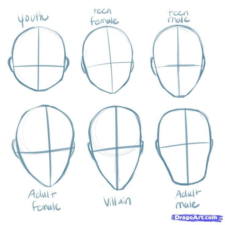 Drawn head Heads Manga How Draw Best