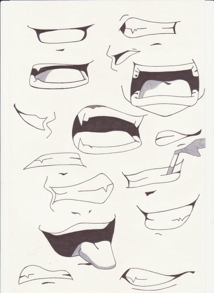 Drawn head anime draw Manga poses saber How+to+Draw+Anime+Lips i