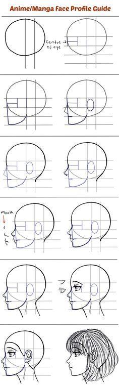 Drawn head anime draw A Style Heads Side Draw