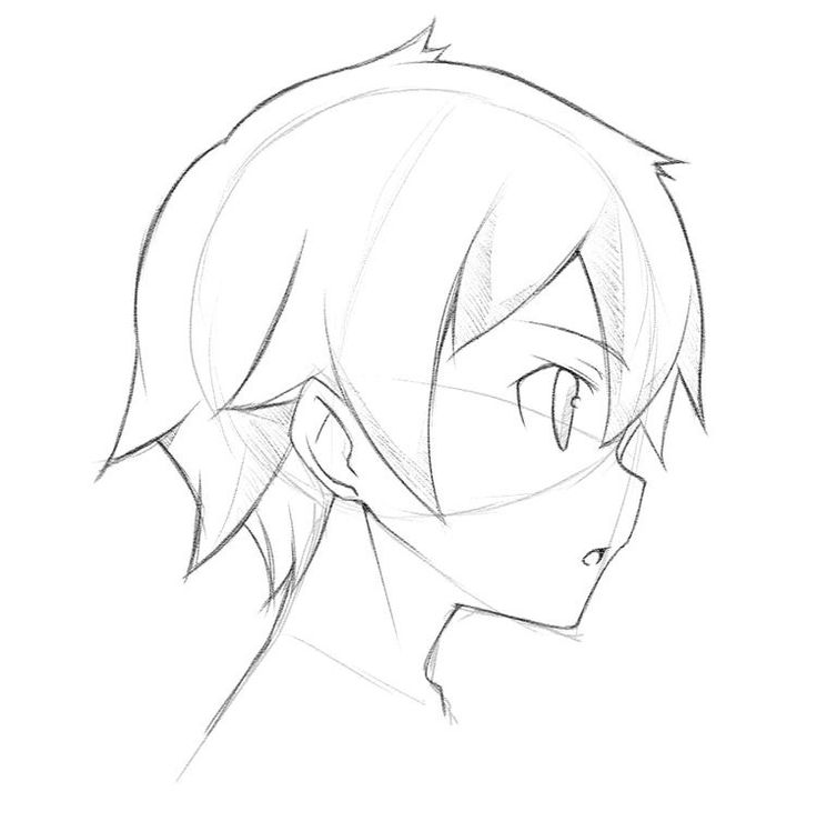 Drawn head anime draw Side on Best Anime reference