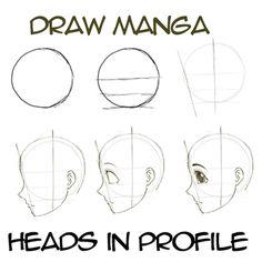 Drawn head anime draw How & learnmangadrawing in Heads