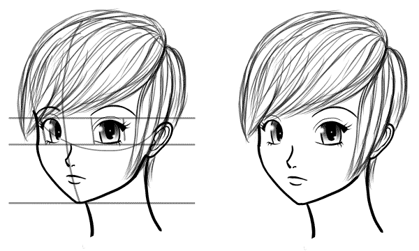 Drawn head anime draw Head Full Anime Anime Draw