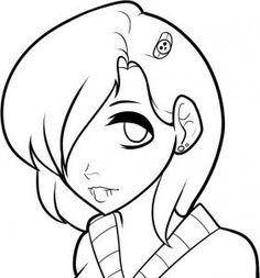 Drawn head anime draw Emo  Step a Emo