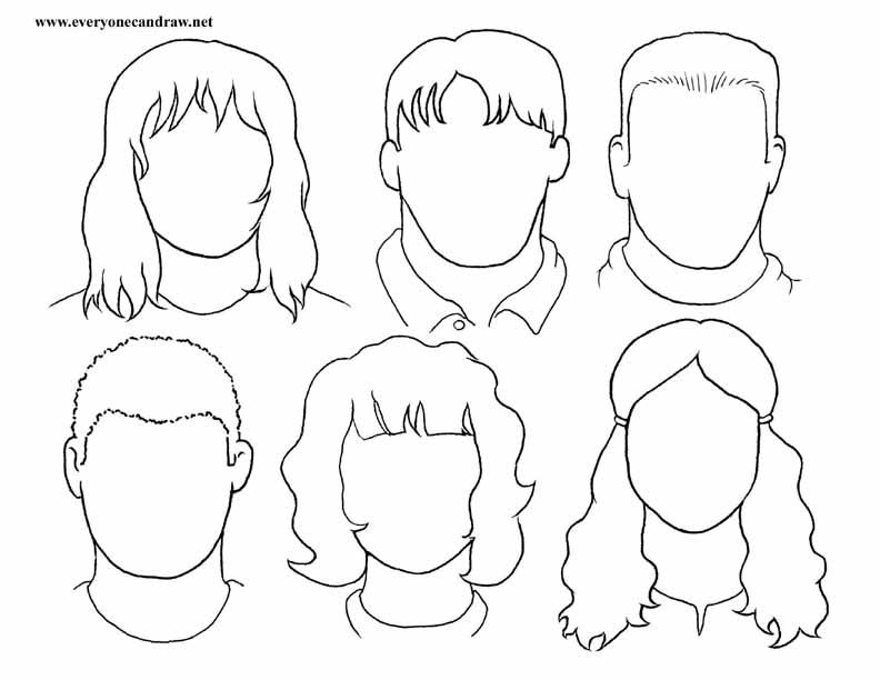 Drawn portrait cartoon Step  PORTRAIT instructions step