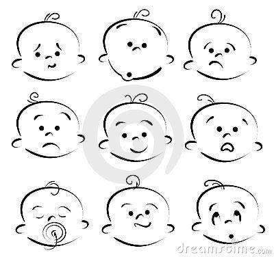 Drawn profile baby face 25+ by on Baby Dreamstime