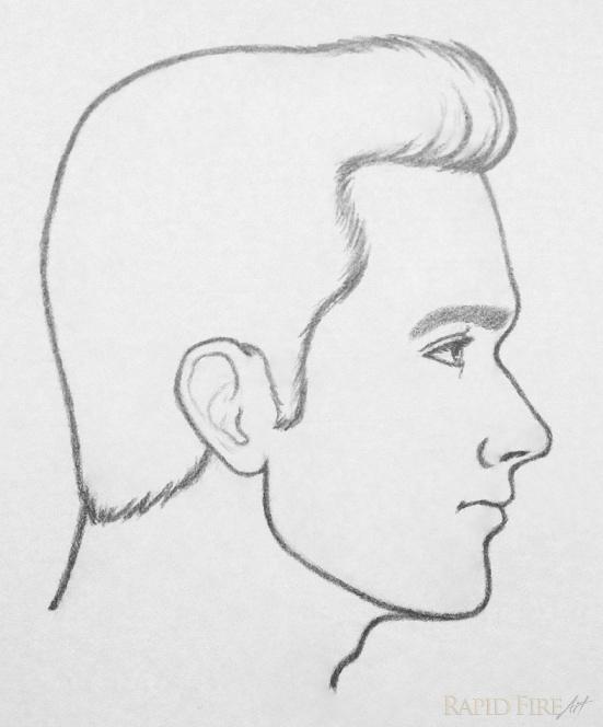 Drawn profile basic Final RapidFireArt drawing RFA face