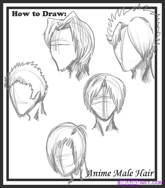 Drawn hair simple #8