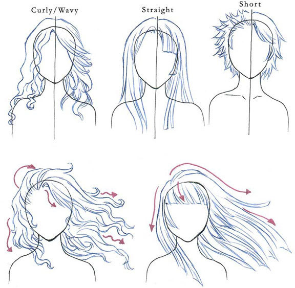 Drawn hair simple #6