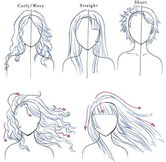 Drawn hair simple Groups Drawing Crunchyroll  Paradise