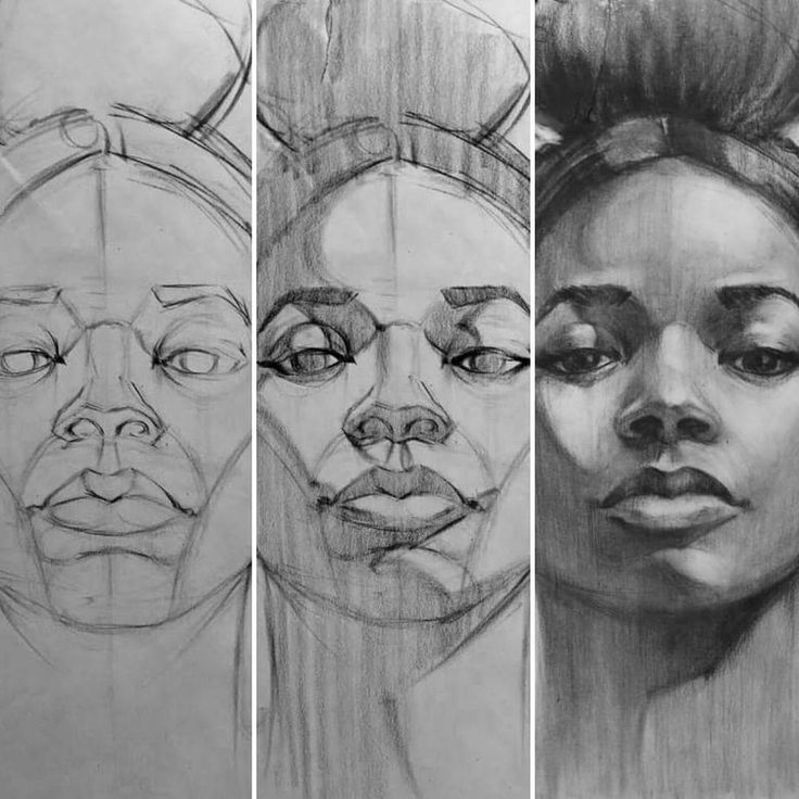 Drawn portrait awesome On face Drawing ideas Pinterest