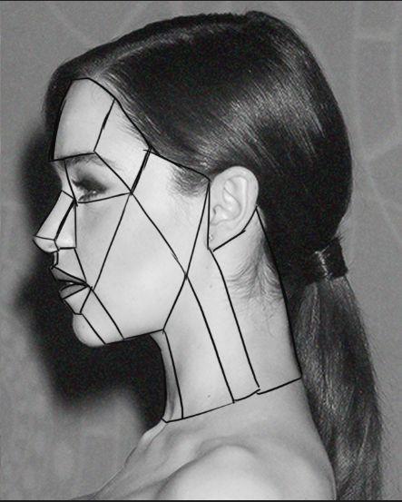 Drawn portrait side view Face profile best The Study