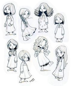 Drawn little girl Ilustraciones deviantART Find and and