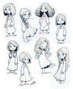 Drawn little girl teenager On deviantART Short Sketches Ilustraciones