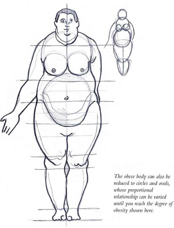 Drawn figurine body Overweight the Models Human Figure