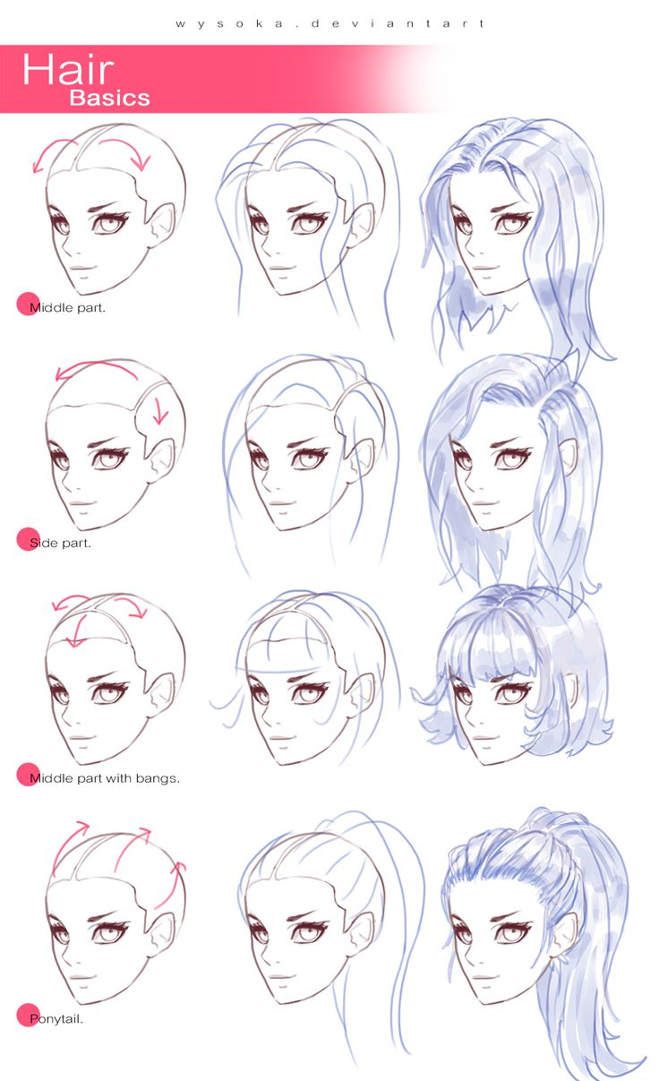 Drawn hair simple #4