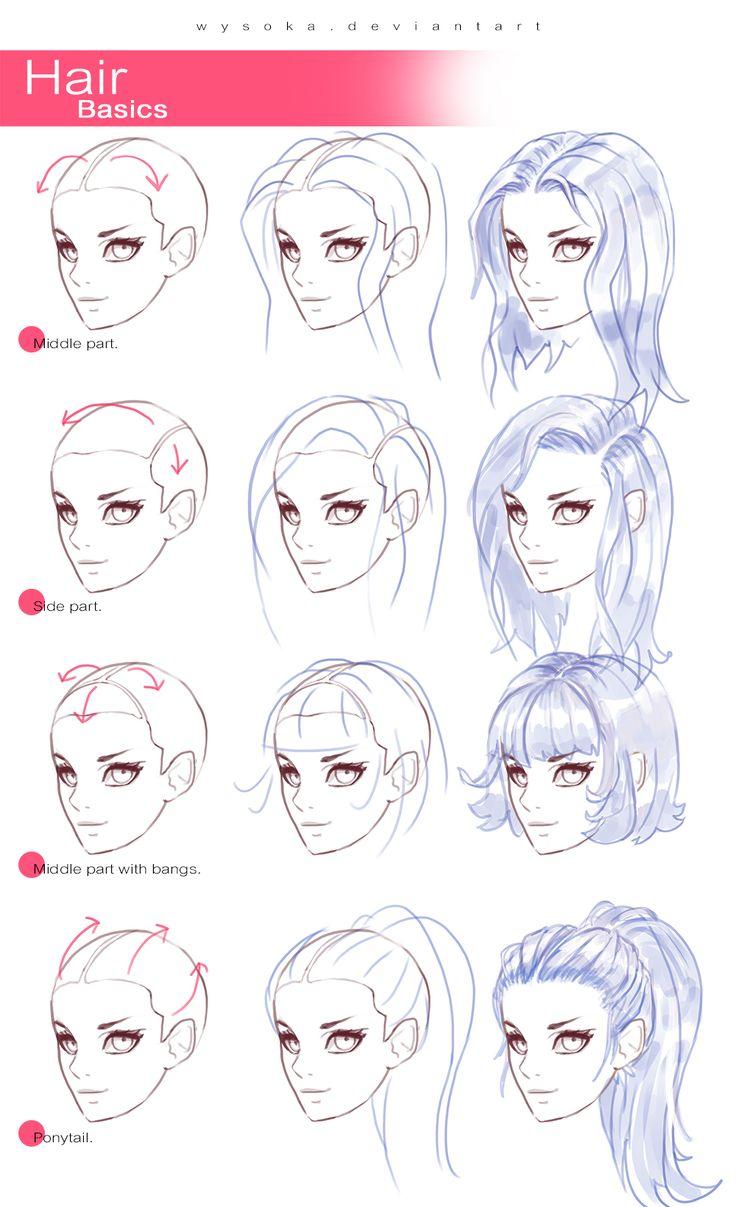 Drawn hair simple Draw hair on ideas best