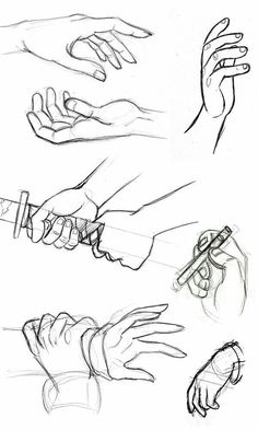 Drawn head hand holding To Drawing Pencil Hands How