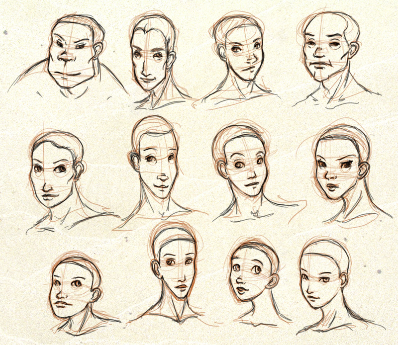 Drawn selfie head shape Deviantart by com Drawing on