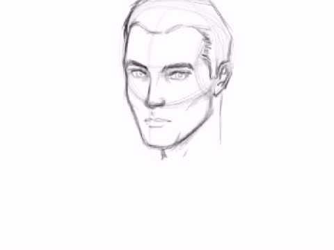 Drawn photos men's face Face How How draw Face