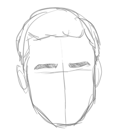 Drawn profile male face Draw Search easy how