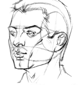 Drawn head proko Head Proko portrait angles Angle