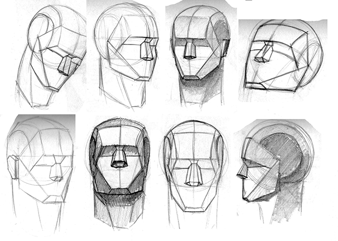 Drawn head proko Draw Unit/ Faces Explore Figurative