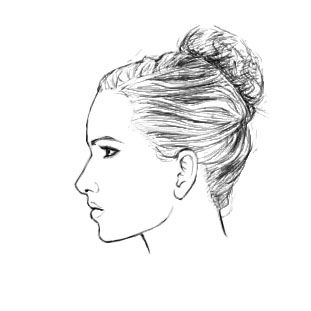 Drawn profile draw On female of How images