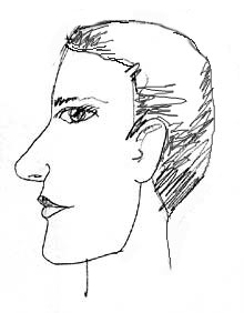 Drawn profile portrait drawing Portrait profile drawing tutorial the