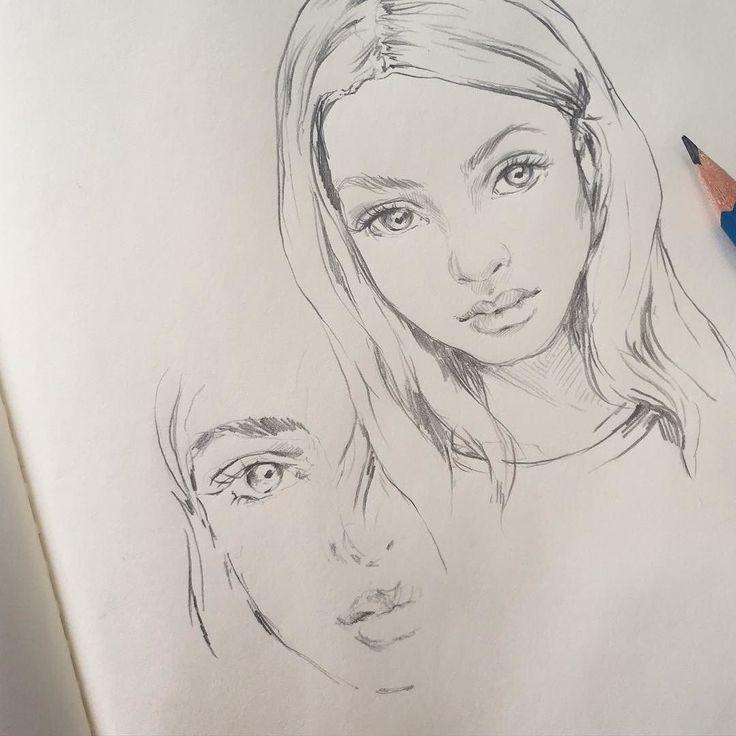 Drawn profile half face #drawing… Drawing @sophiafrankish faces SketchDrawing