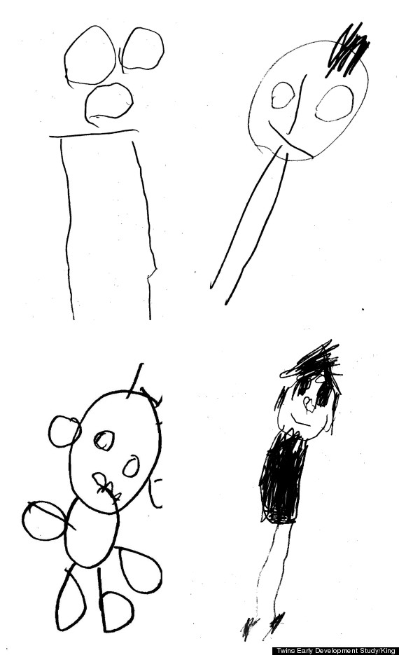Drawn head stick Your Linked Child's drawing The