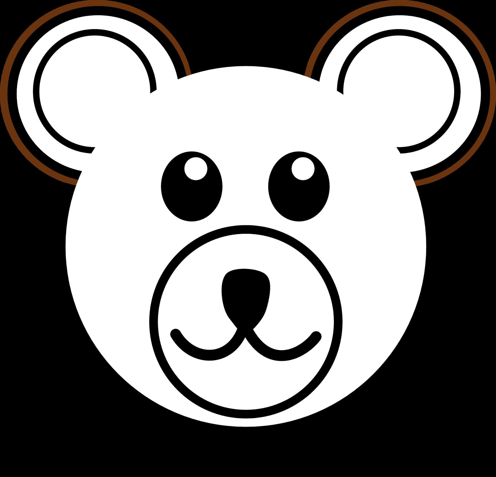 Bear clipart easy Free Clip Outline Bear Art