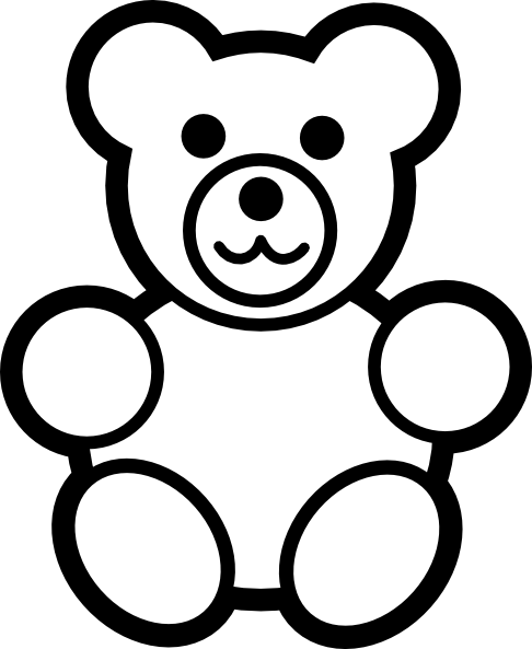 Teddy clipart circle #1