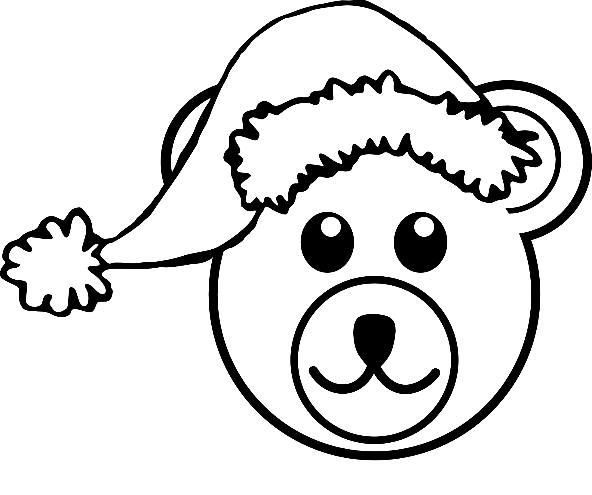 Teddy clipart black and white Collection Clipart outline bear black