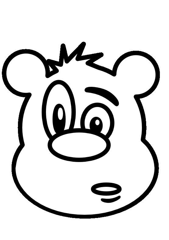 Teddy clipart face #9