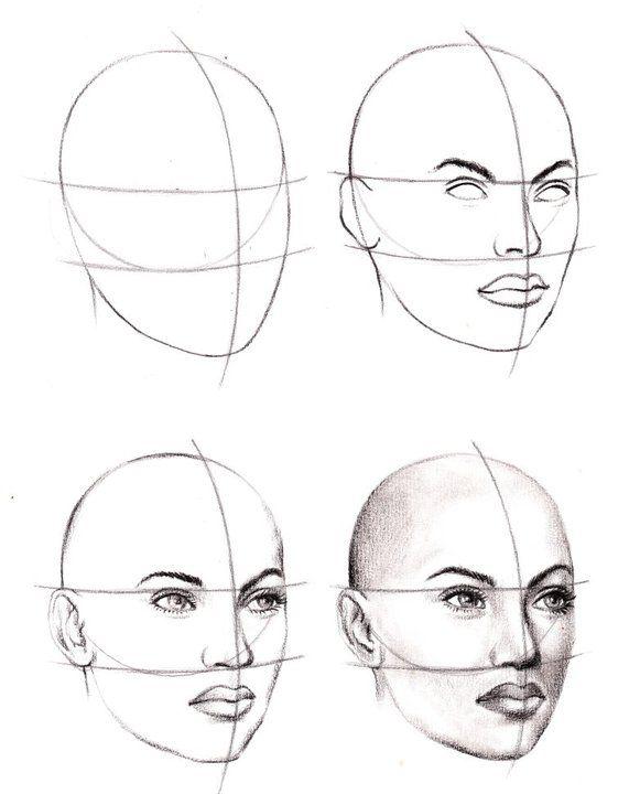 Drawn portrait beginner Best ideas Pinterest by Apriyatno