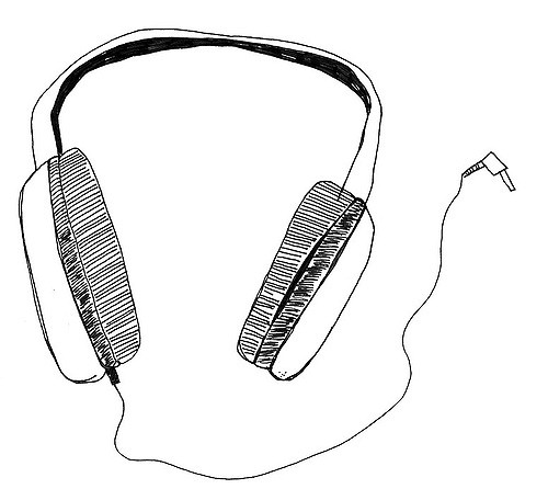 Drawn headphone Information headphones 042606 emergency Headphones