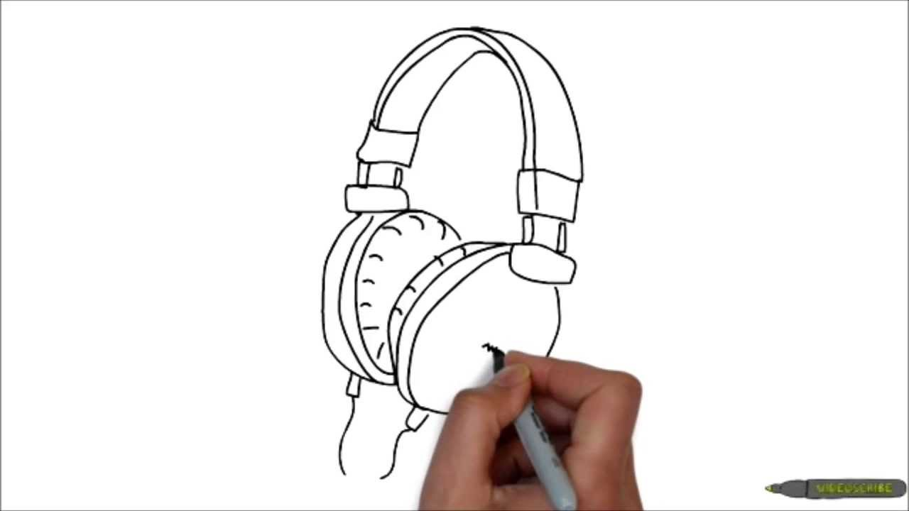 Drawn headphone It headphones draw to to