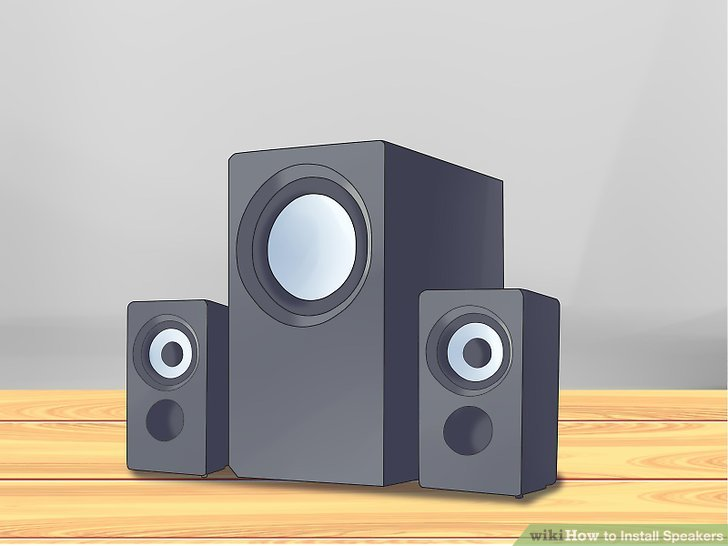 Drawn speakers WikiHow Install 12 Image Install