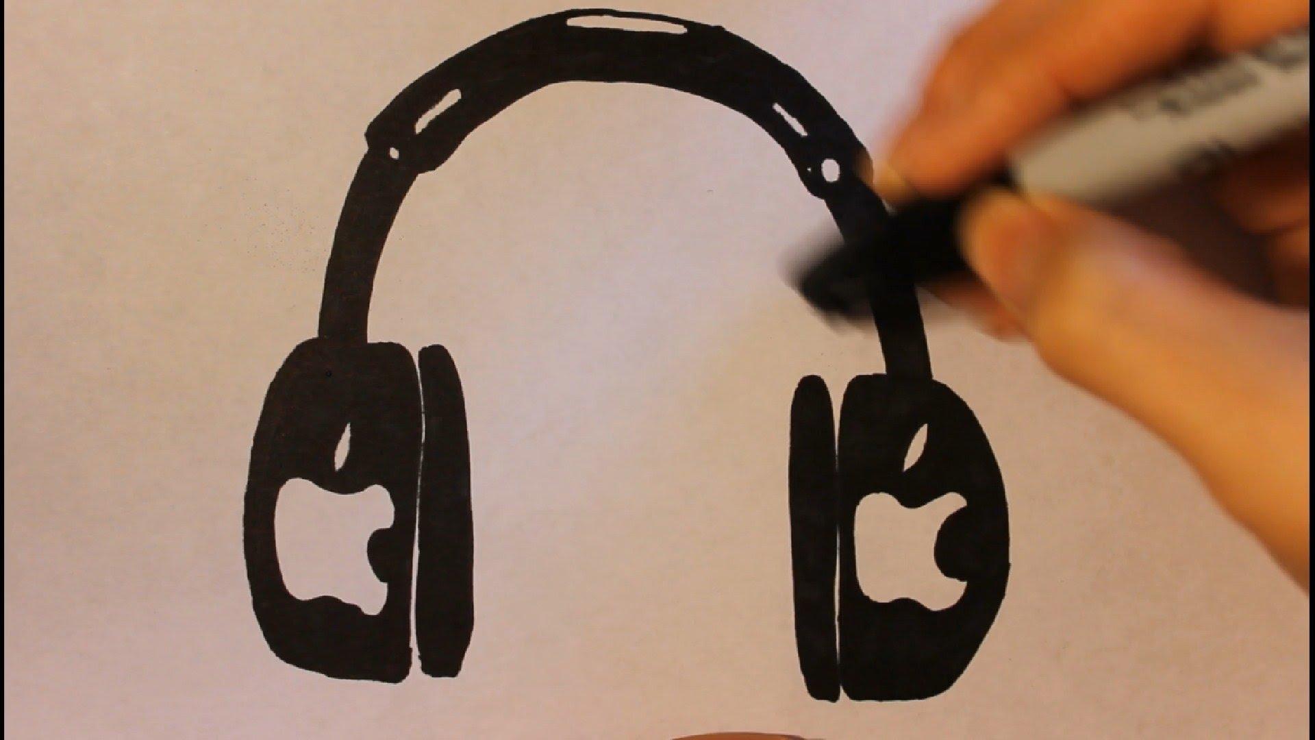 Drawn headphones simple Step Cool How Tutorial Headphone